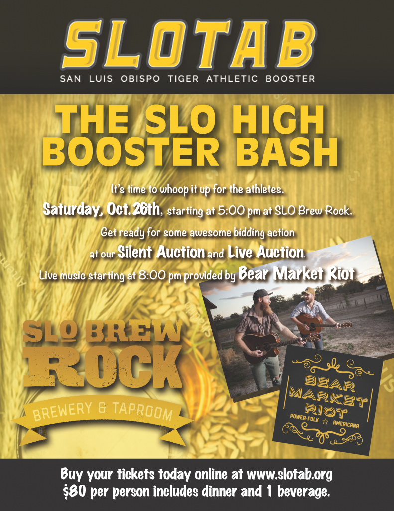 SLOTAB booster bash flyer